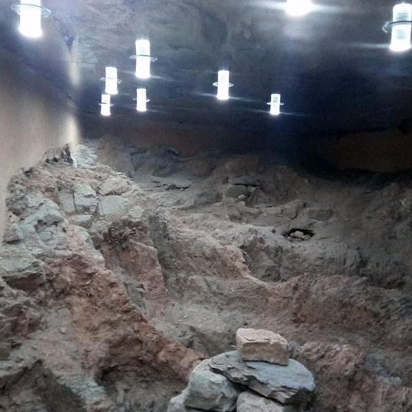 Vista do interior, efeito de luz